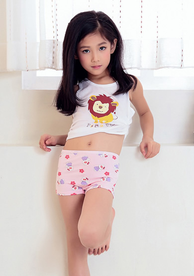 猪小妹印花平角内裤